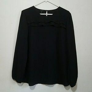 Talbots Black Long Sleeve Blouse